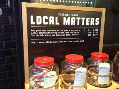 Get involved with Local Matters - all are more than worthy causes.