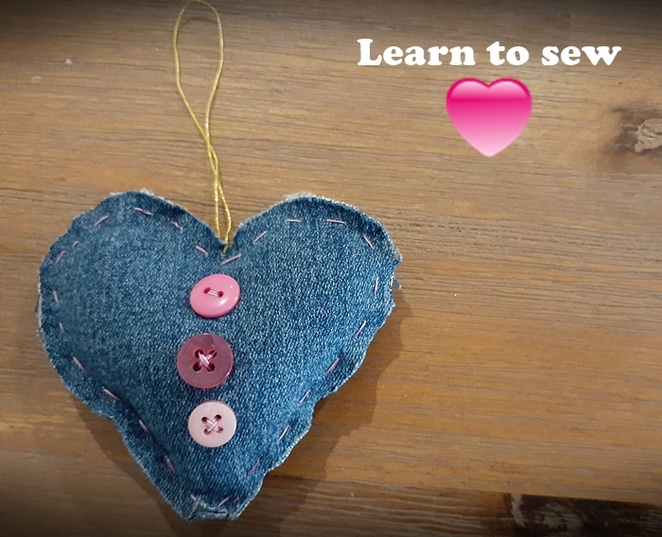 learn to sew, fabric, hearts, kids, children, school holidays, craft, kids, children, things to do, cheap, budget, free, easy, australia,