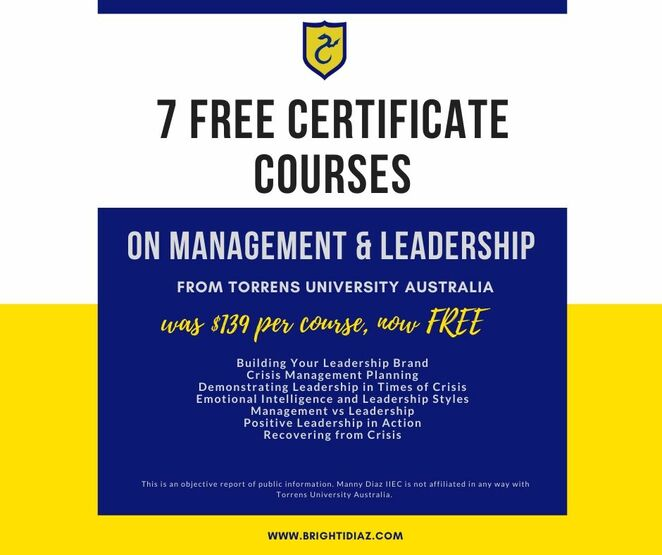 7 Free Certificate Courses on Management and Leadership