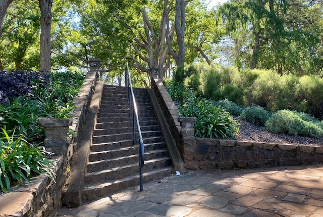 Historic stairs lead up to Margaret Street Playground