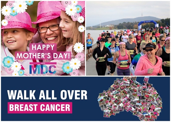 mothers day class, canberra, 2018, ACT, charity walk, fun run, may 13th, 2018, whats on, mothers day events, lake burley griffin,