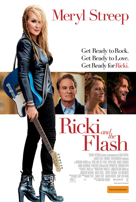 movie, ricki and the flash, mamie gummer, meryl street, kevin kline, rick springfield, film review, movie review