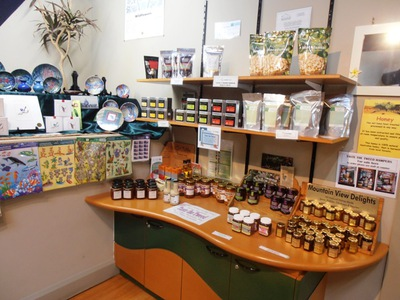 The gift shop at the Tweed Valley Visitors Centre stocks a wonderful assortment of locally produced goodies.