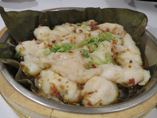 New Oriental Pearl Restaurant, Cantonese-Style Steamed Fish Fillet with XO Sauce in Lotus Leaf, Adelaide