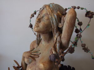 One of Carol Clitheroe's goddesses, a favourite motif of hers since childhood