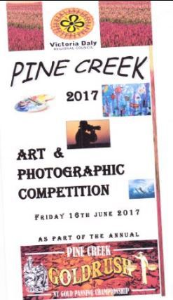 Pine Creek, Northern Territpry, Goldrush Festival, Pine Creek Art and Photographic Competition, Exhibition, art and photo exhibition