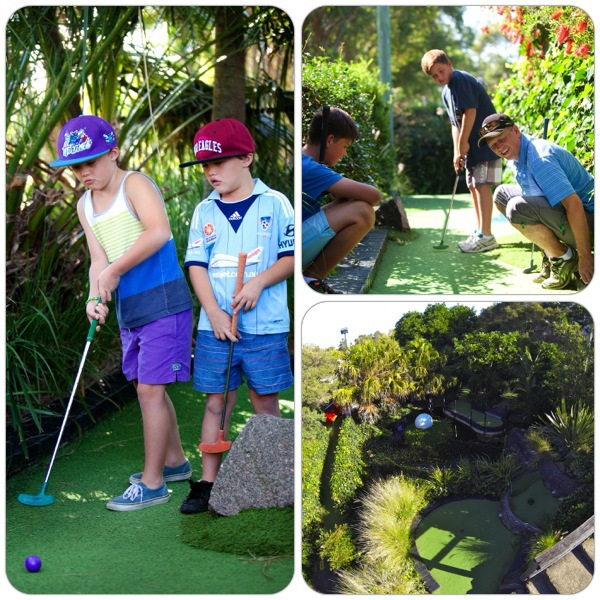 pittwater golf centre mini golf school holidays fun outdoor activity