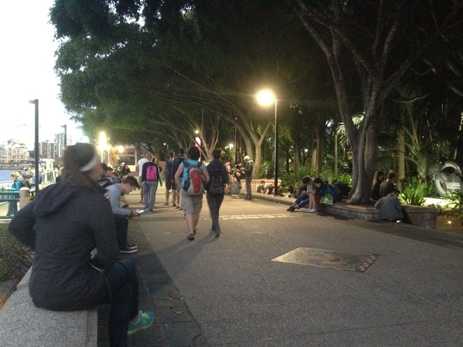 Pokemon Go players South Bank