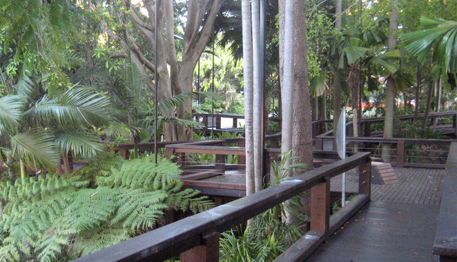 The Rainforest at South Bank is a popular romantic spot