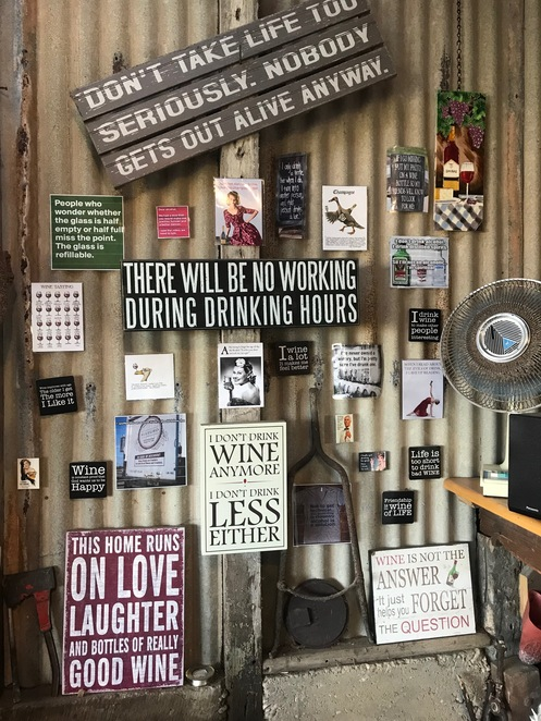 Reaffirming wine messages.