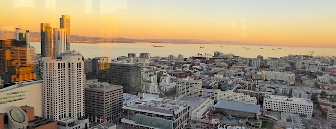 San Francisco from Marriott Marquis View Lounge