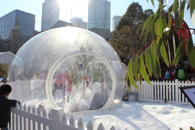 snow victoria dome federation sqaure