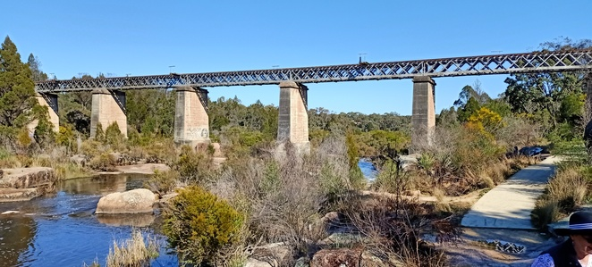 There is a lovely walk in Stanthorpe along the creek, going up to the historic Red Bridge