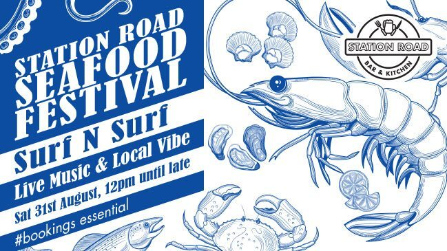 station road seafood festival 2019, community event, fun thigns to do, station road bar and kitchen, surf n surf, live music, local vibe, indooroopilly, free event, fresh seafood, paella, food pairing, banquet style
