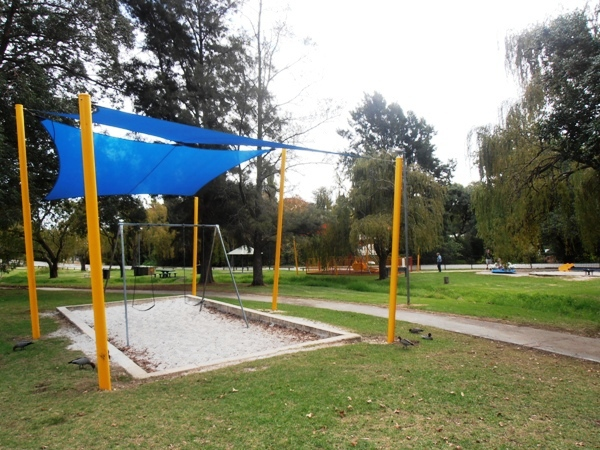 Part of the playground at Stirk Park.