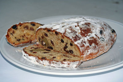 A traditional German Christmas cake