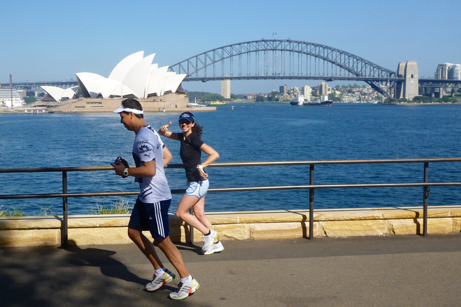 Sydney Running Tours, fitness, jogging, sightseeing, Opera House, Harbour Bridge, Sydney Harbour