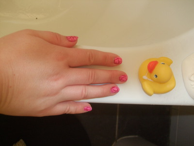 The bath is always a good nail-drying option