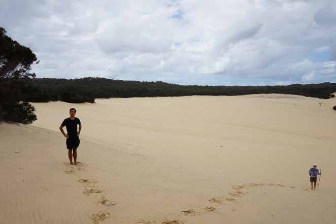 The desert on Moreton Island