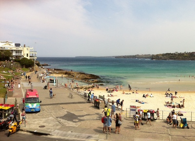 View of Bondi Beach from North Bondi RSL balcony