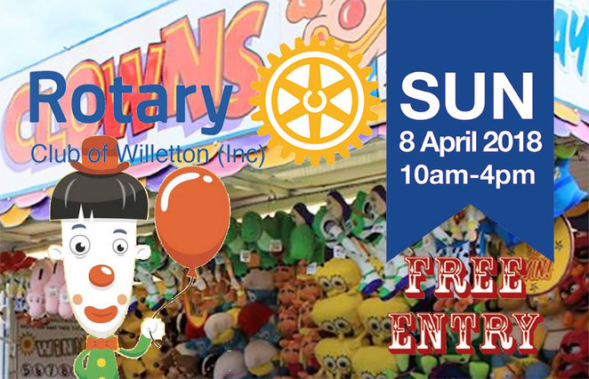 Willetton Rotary Community Fair 2018, side shows, stalls, children's activities, not for profit