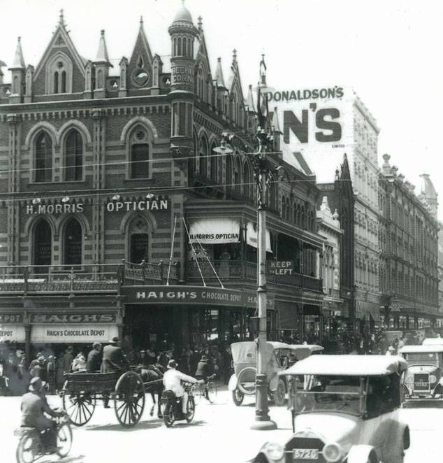 Haigh's flagship store in Adelaide recently celebrating 100 years of operation. Image Haigh's Facebook page margin=