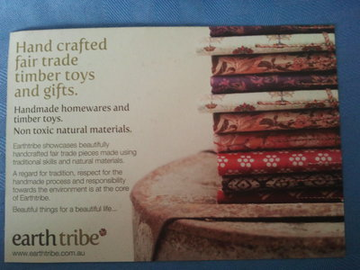 Advertisement for earth tribe
