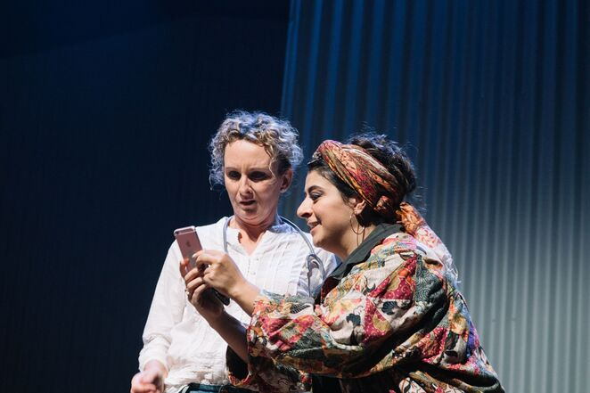 Anna Steen (Penny) and Susie Youssef (Rania). Photo - McCammon