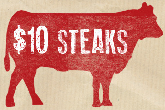 Steak for $10