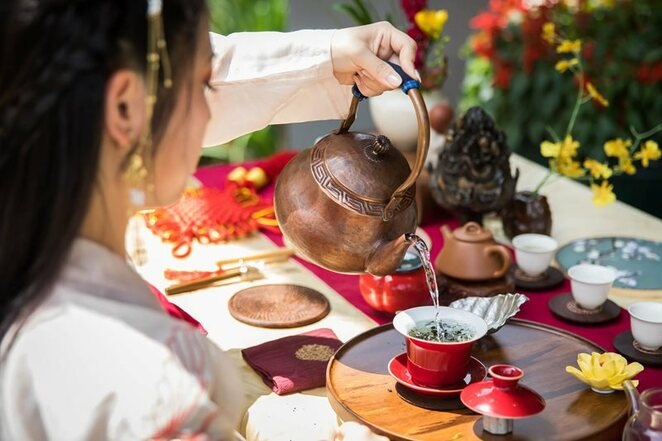 Chinese Garden of Friendship, Lunar New Year, tea tasting