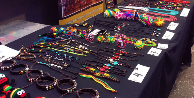African gifts and souvenirs for sale at the venue