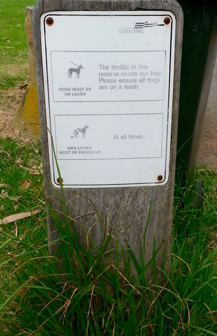 Dogs must be kept on lead sign