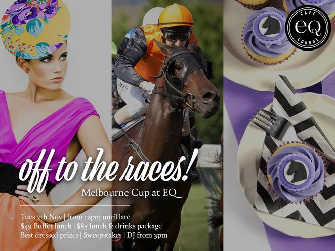 EQ Cafe and lounge, deakin, melbourne cup, 2017, lunch, buffet, sweeps, prizes, melbourne cup in canberra, ACT,