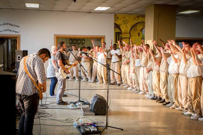 Fathom Blue, performing at Westville Prison