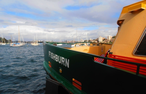 The Fishburn, leaving Neutral Bay.