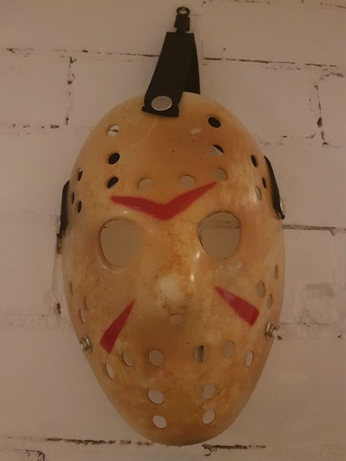 Friday The 13th, Hockey mask, blood, horror, jason voorhees, jason mask, halloween mask, Party, Movie, Movie Party, Movie Watching Party, Friday the 13th Party, 13, Scary, Spooky, Comedy, Funny, Costume, Cosplay, Costume Party, DIY, Halloween, Holiday
