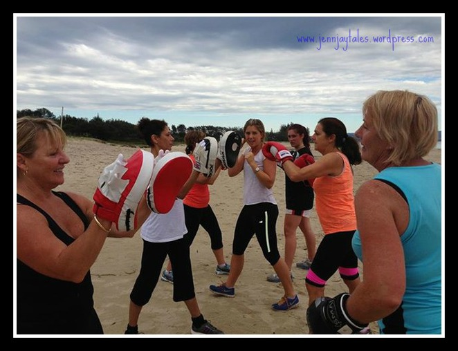 Getaway Girls work out beach style