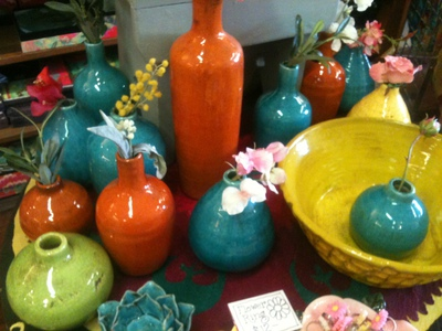 Gorgeous colourful wares at Gypsian