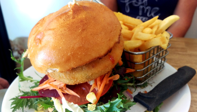 Cafe 77 is famous for its burgers
