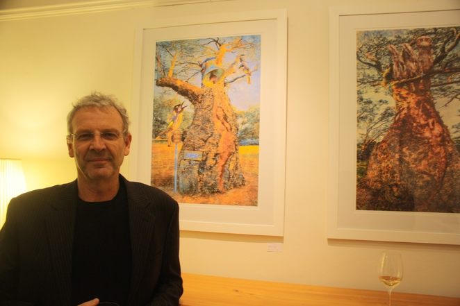 Brian Kowald at the opening of his exhibition The Money Tree