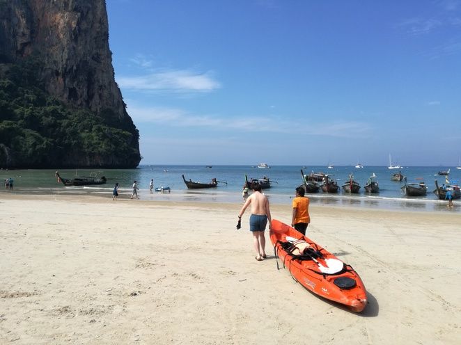 kayak railay village resort beach sea krabi thailand