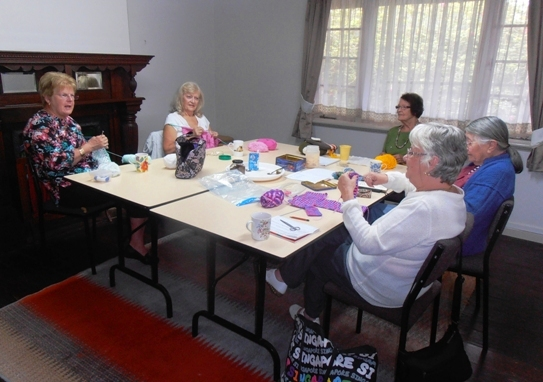 Textile artists at work at Liddelow Homestead