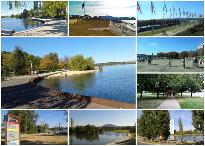 lake burley griffin, walks, canberra, short walks, kids, children, family,