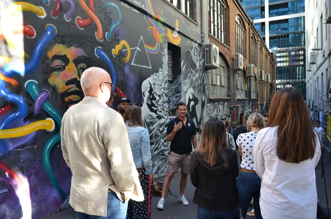 Melbourne Cobblestone Laneways are lined with Alfresco Art
