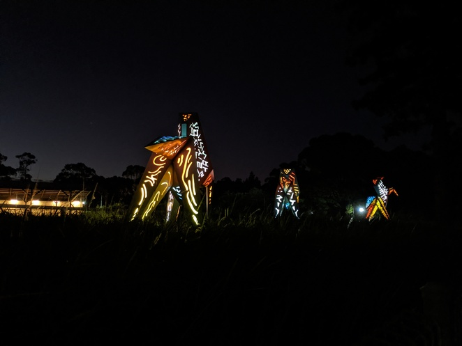 Milne and Stonehouse, origami horses, horse sculpture, light display, Riding for the Disabled, horse sculpture