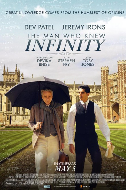 movie review, film review, the man who knew infinity, jeremy irons, dev patel, actors, british film festival, bbc first, palace cinemas