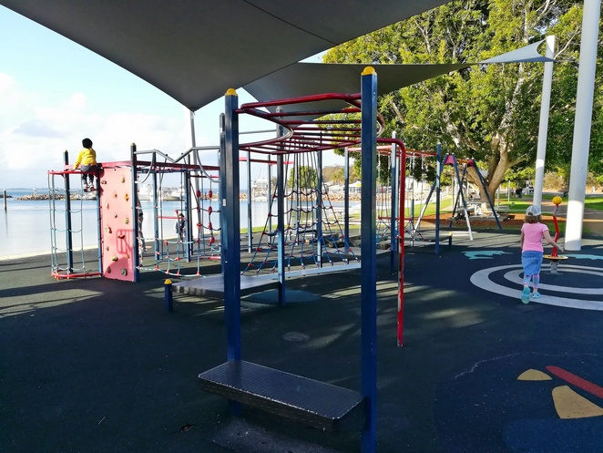 nelson bay playground, nelson bay foreshore, port stephens, NSW, parks, playgrounds, picnic spots, shade, swimming, sand, bay, best playgrounds in port stephens, marina, wharf, ferry, cruise terminal,