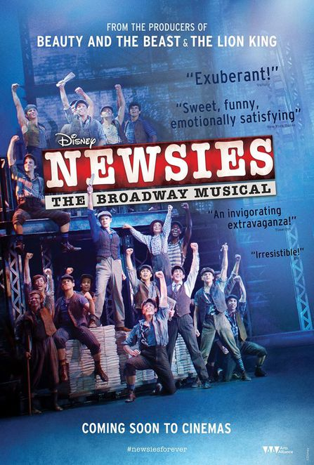 Newsies, Newsies the musical, Newsies screening, Newsies in theatres, Newsies film review, Newsies movie review, Broadway musicals, special screenings