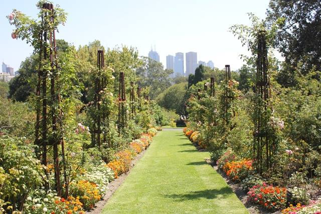 Royal Botanic Gardens, Melbourne, City view, Melbourne gardens, formal garden,