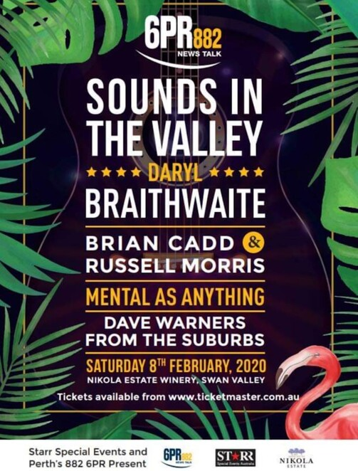 Sounds in the Valley concert with Daryl Braithwaite